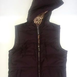 George Hooded Vest (S) & Matching Cardigan (XS)